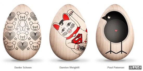 Робот раскрасил пасхальные яйца для Японии