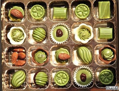 Японский зеленый шоколад из зеленого чая