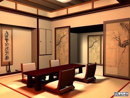 Интерьер и оборудование кухни в японском стиле