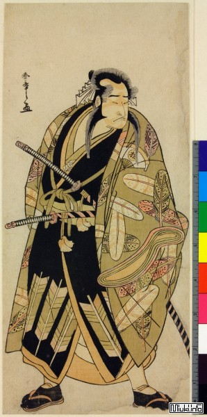 Самурай (актер кабуки) с катаной и вакидзаси
