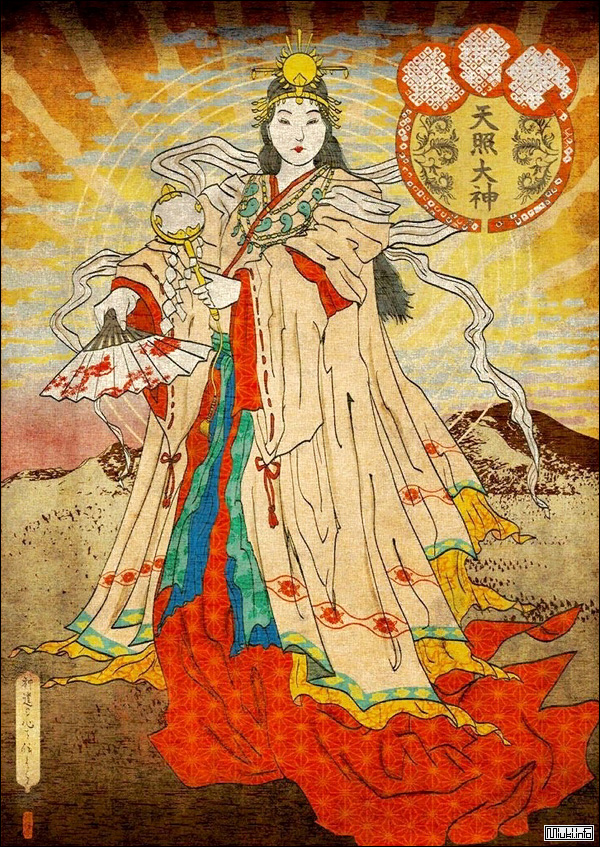 Аматэрасу-о-миками - великая священная богиня, сияющая на небе