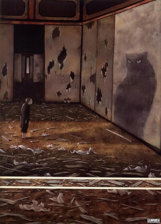 Японская сказка / Мальчик, рисующий котов