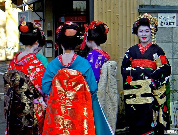 Типы женских кимоно